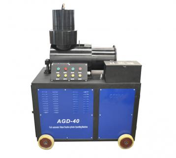 AGD-40 Full auto double-cylinder rebar upset forging machine