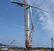 The first domestic 8MW offshore wind turbine was successfully installed